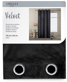 Öökardin AmeliaHome Velvet, must, 1400x2450 mm