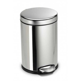 Atkritumu tvertne Simple Human Mini Round Pedal Bin 4.5l Stainless Steel