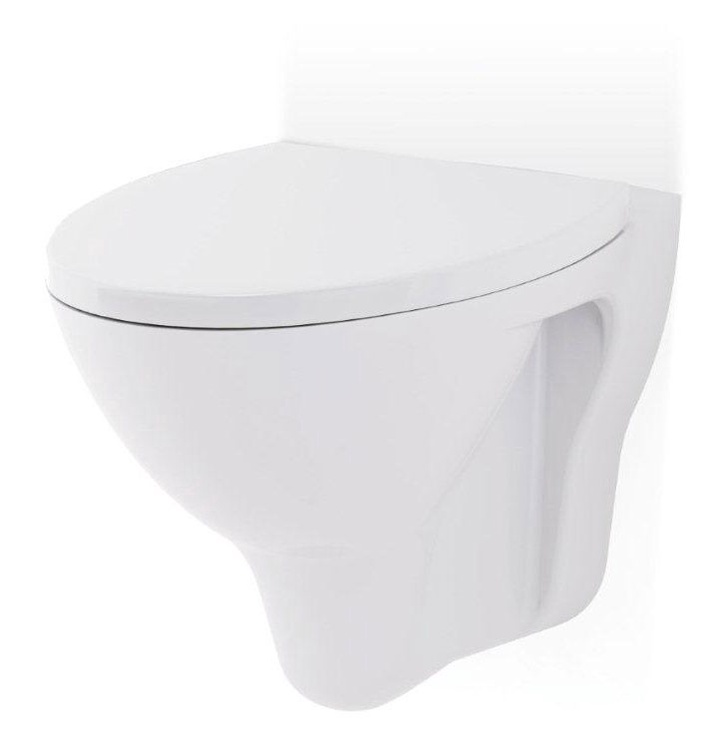 Sienas tualete Cersanit Mito Red TS501-009, ar vāku, 355 mm x 520 mm