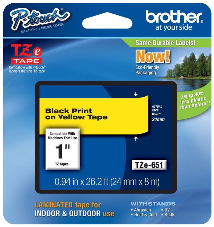 Этикет-лента для принтеров Brother TZ-E651, 800 см