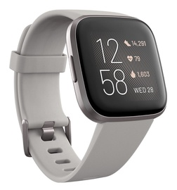 Išmanusis laikrodis Fitbit Versa 2 Stone Mist Grey Aluminium