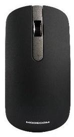 Kompiuterio pelė Modecom WM102 Black-Silver, bevielė, optinė