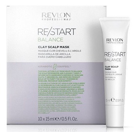 Kaukė plaukams Revlon Re/Start Balance Clay Scalp Mask, 10x15 ml