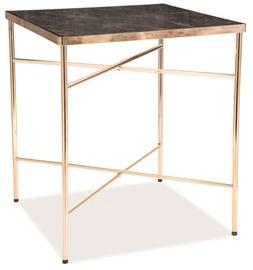 Kafijas galdiņš Signal Meble Modern Cali, zelta/balta, 450x450x500 mm