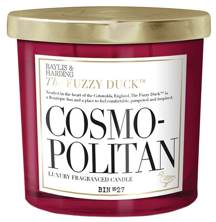 Baylis & Harding Cosmopolitan Fuzzy Duck Cocktails 2 Wick Candle