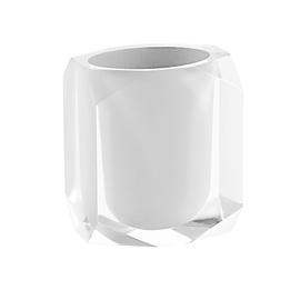 Stiklinė dantų šepetėliams Gedy Chanelle CH98-02, balta