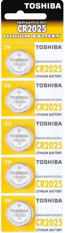 Toshiba Lithium Battery CR2025 x 5