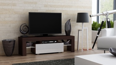 TV-laud Pro Meble Milano 130 With Light Wenge/White, 1300x350x450 mm