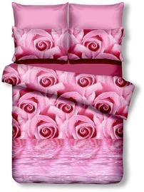 Gultas veļas komplekts DecoKing Emerald, rozā, 200x220/80x80 cm