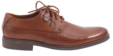 Clarks 261241758 Becken Plain Leather Shoes Brow 43
