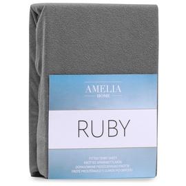 Простыня AmeliaHome Ruby 72, серый, 200x180 см, на резинке