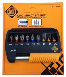 Skrūvgrieža uzgaļu komplekts Forte Tools, 10gab.