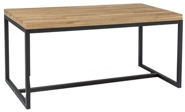 Kohvilaud Signal Meble Loras B Oak/Black, 1100x540x600 mm