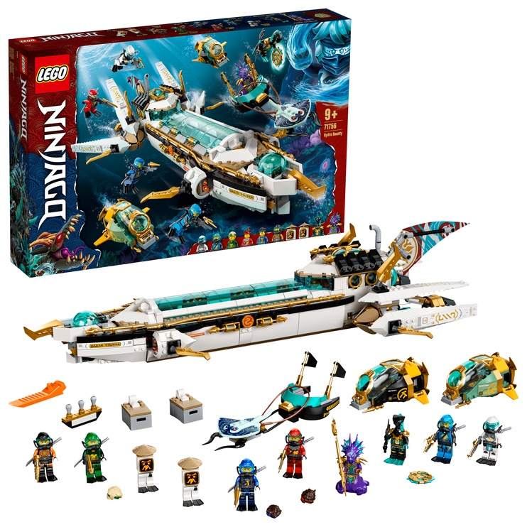 Конструктор LEGO Ninjago Hydro Bounty 71756, 1159 шт.
