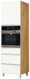 Bodzio Monia High Rise Oven Cabinet 60 Right White/Brown