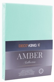 Palags DecoKing Amber Light Turquoise, 200x200 cm, ar gumiju