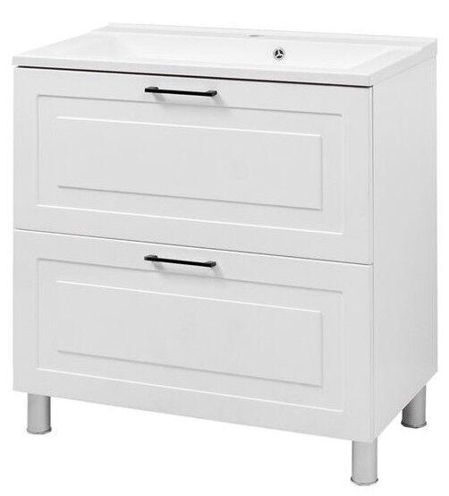 Vento Alba Bathroom Cabinet With Sink Gloria 80cm White