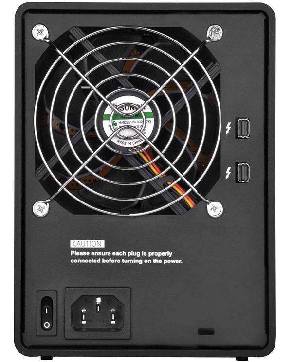 "SilverStone External Enclosure TS433-TB 4 Bay 3.5"" HDD Black"