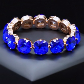Diamond Sky Bracelet Glare Majestic Blue With Swarovski Crystals
