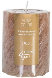 Home4you Candle Pure Colour D6.8xH9.5cm Brown