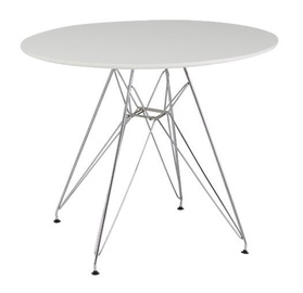 Pusdienu galds Signal Meble Nitro White, 900x900x740 mm