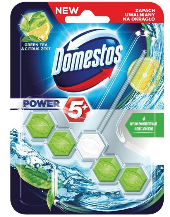 Domestos Green Tea Citrus Toilet Block 55g