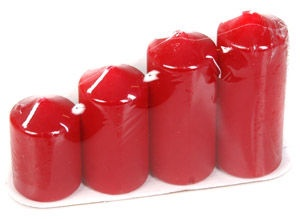 Verners Christmas Advent Candles Bordo 234621