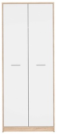 Black Red White Nepo Plus Hallway Wardrobe Sonoma Oak/White