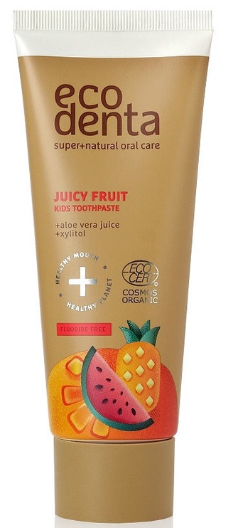 Dantų pasta Ecodenta Cosmos Organic Juicy Fruit Kids 75ml