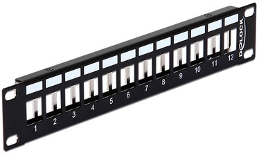 Delock Keystone Patchpanel 10-inch 12-Port