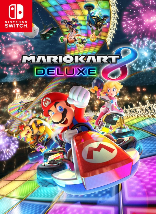 Nintendo Switch Red Blue + Mario Kart 8 Deluxe