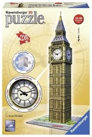 Dėlionė Ravensburger 3D Puzzle Big Ben With Real Clock 216pcs 12586