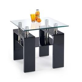 Kafijas galdiņš Halmar Diana H Kwadrat Laquered Black, 600x600x550 mm