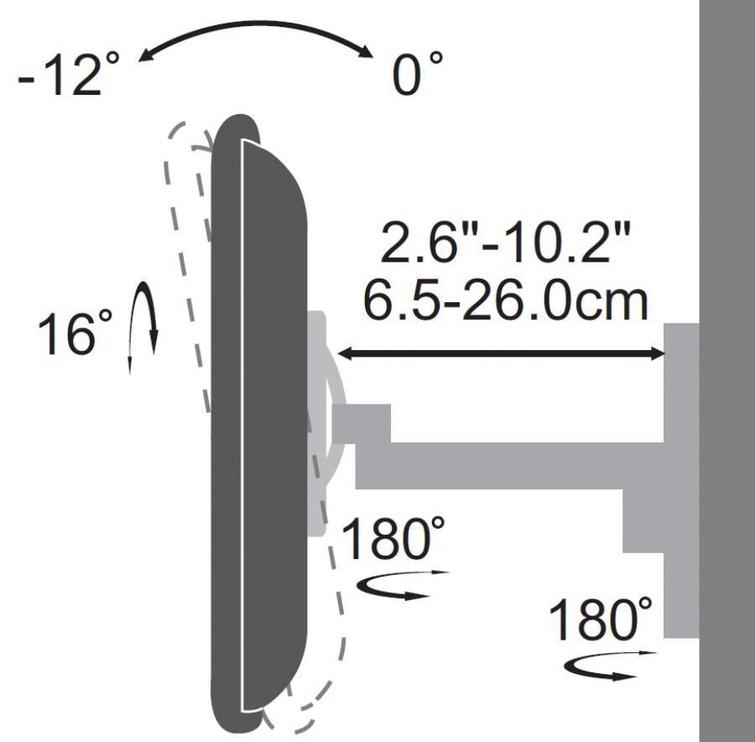 Sbox Swivel LCd Wall Stand 19-43''