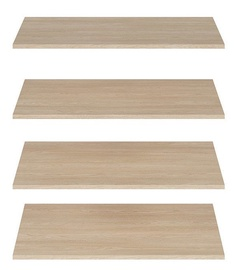 Black Red White Gent Wardrobe Shelves 4pcs Oak