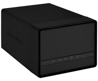 "SilverStone External Enclosure DS222 2.5"" HDD USB 3.0 Black"