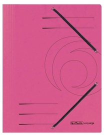 Herlitz 3-Flap File With Elastics A4 Colorspan Pink