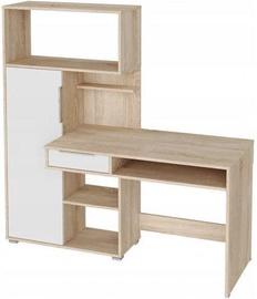 Rašomasis stalas Tuckano Sonoma Oak/White