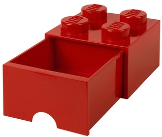 LEGO Storage Brick Drawer 4 Red
