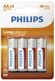 Philips R6L4B LongLife Batteries AA x4