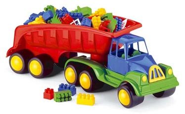 Žaislinė mašina su kaladėlėmis, plastikinės