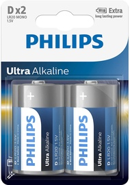 Philips Ultra Alkaline D 2x
