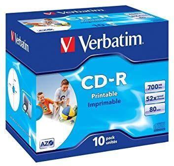 Накопитель данных Verbatim CD-R 700MB 10pcs Jewel Case 43325