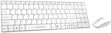 Esperanza EK122W Slim Wireless Keyboard + Wireless Mouse White