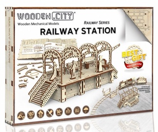 Wooden City Puzzle Railway Station 175pcs