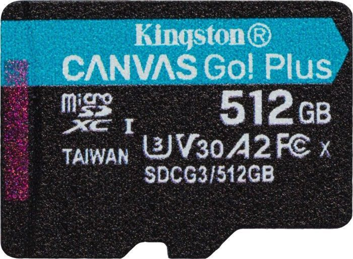 Kingston Canvas Go! Plus 512GB microSDXC UHS-I Class10 w/Adapter