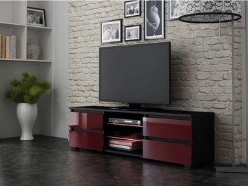 Pro Meble Milano 150 With Light Black/Red