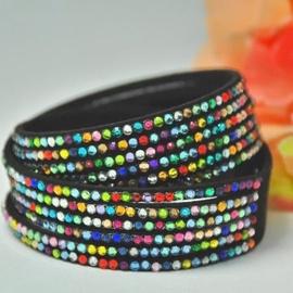 Vincento Bracelet Double Crystalsnake LB-1029