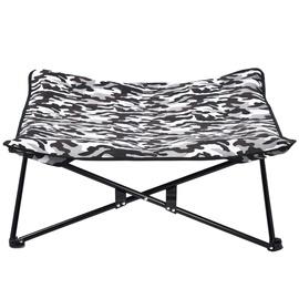 Кровать для животных VLX Pet Stretcher Army Print, серый, 800x800 мм