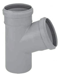 Kanalizācijas caurules trejgabals Magnaplast HTplus D110/50mm, 67°, PP